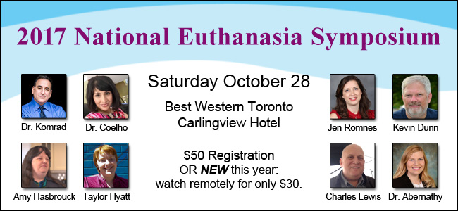 2017 National Euthanasia Symposium Saturday October 28