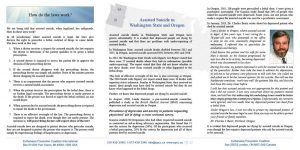 Shedding Light on Assisted Suicide in America pamphlet inside spread