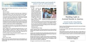 Shedding Light on Assisted Suicide in America pamphlet outside spread