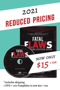 2021 Reduced Pricing for Fatal Flaws DVD Now Only $15 + tax in Canada Click Here